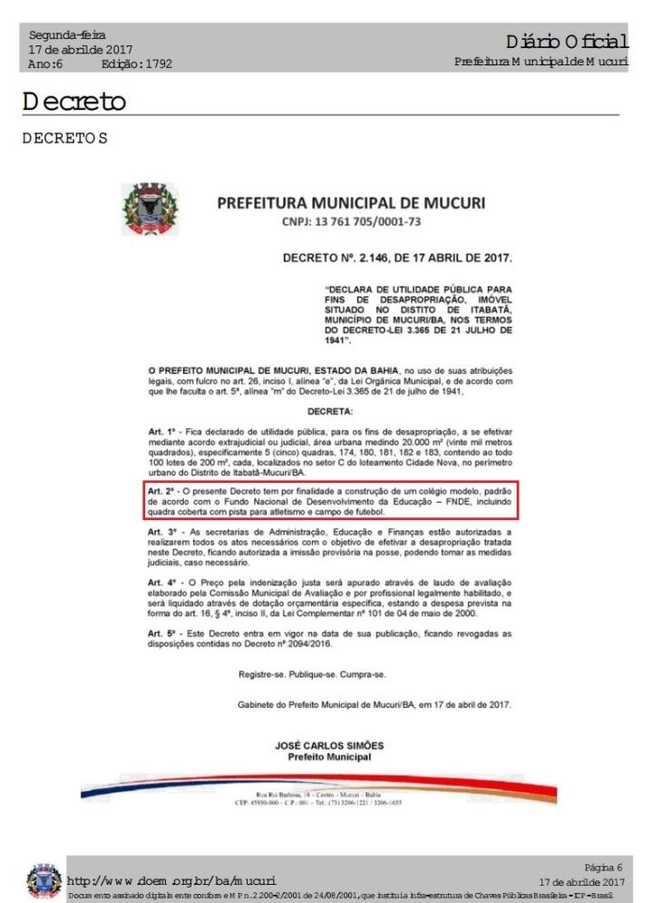 Decreto desapropriação parte 1